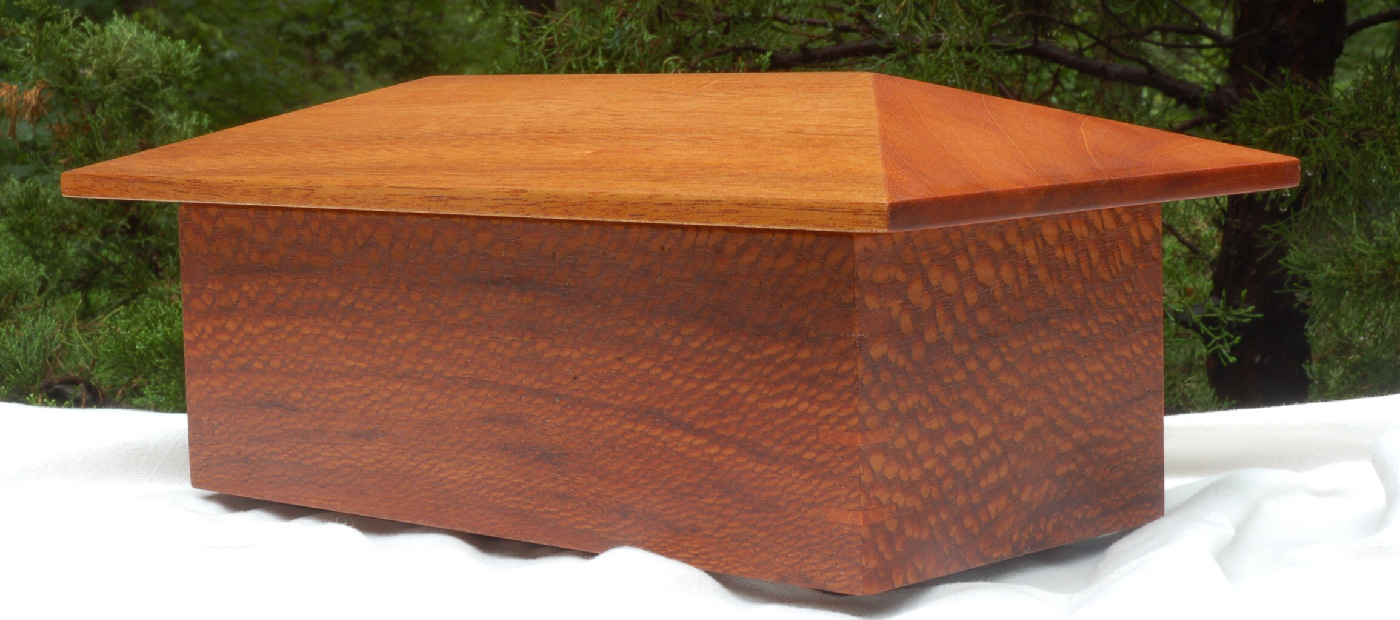 "Click On This Image To Learn More <p class=""alignright"">Leopard Wood & Mahogany Jewelry Box</p>"